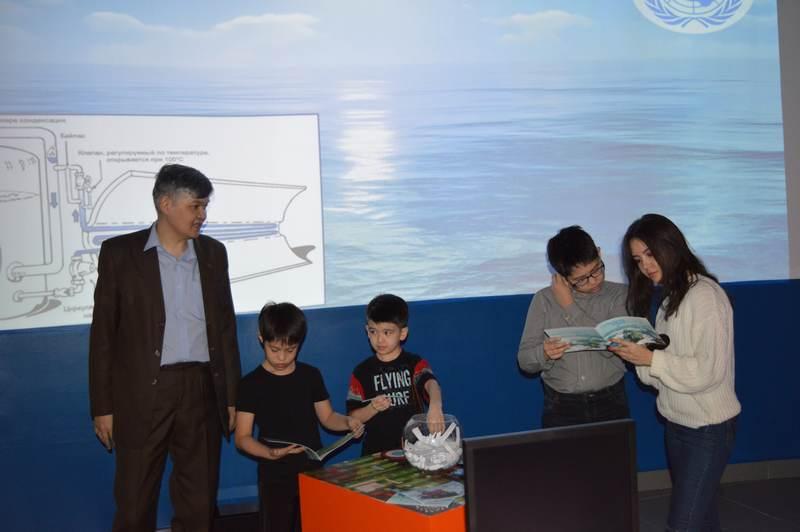Фото к Международный день воды: ИЦАЭ Астаны провел открытые уроки для казахстанских школьников и студентов